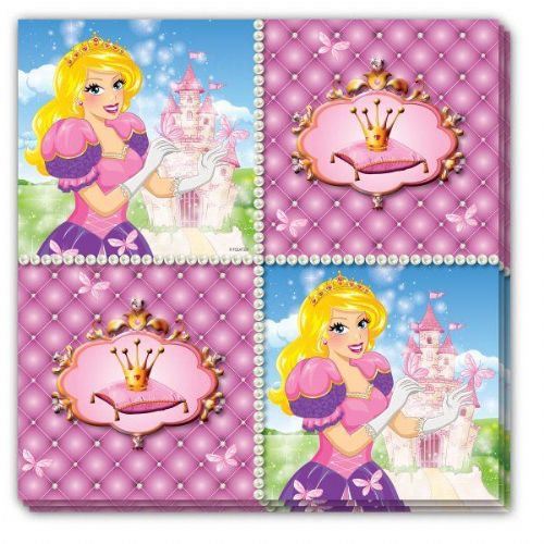 Princess Party Napkins 33 x 33cm 16 pack Beautiful Story Book Royal Regal Hero